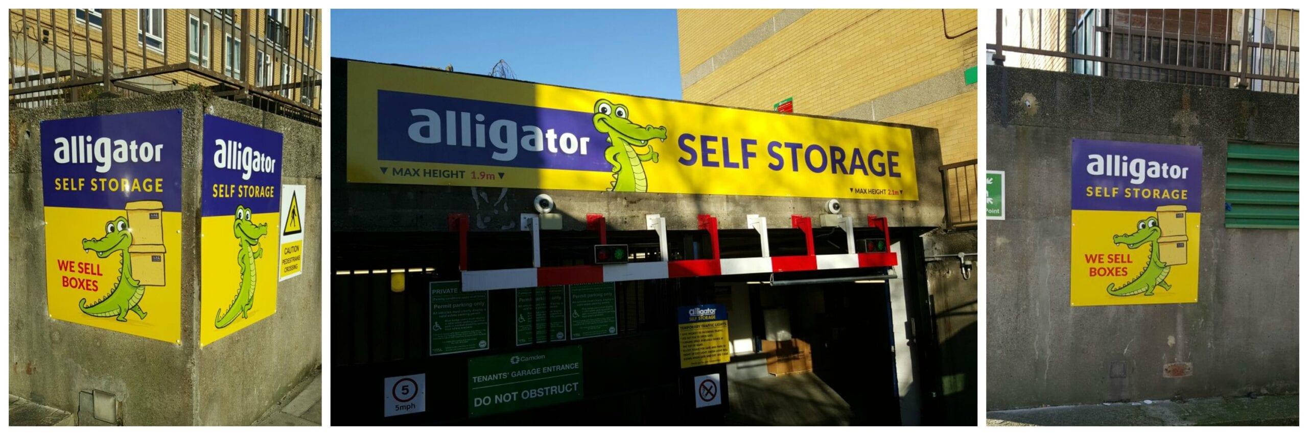 Alligator Storage Camden wall signs